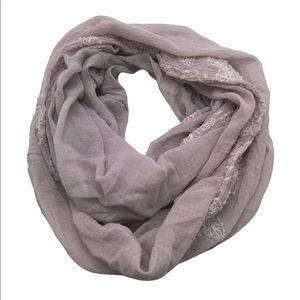American Eagle Embroidered Trim Infinity Scarf